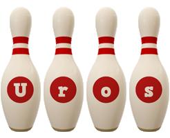 Uros bowling-pin logo