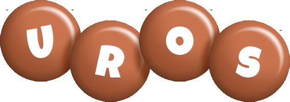 Uros candy-brown logo