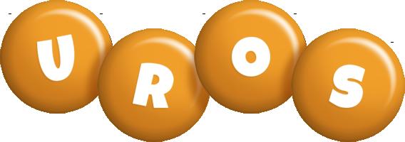 Uros candy-orange logo