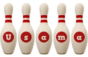 Usama bowling-pin logo