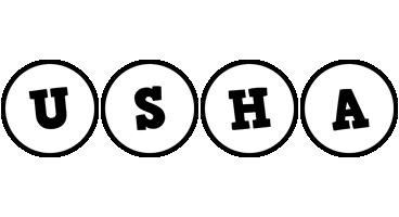 Usha handy logo