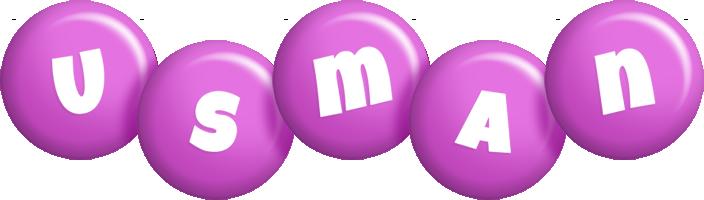 Usman candy-purple logo