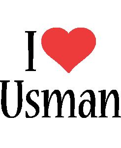 Usman i-love logo