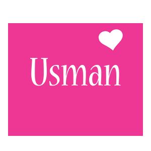 Usman love-heart logo