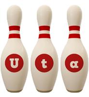 Uta bowling-pin logo