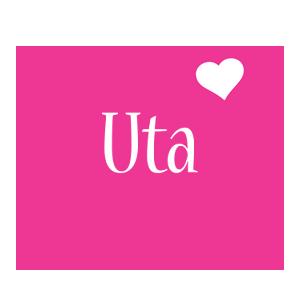 Uta love-heart logo