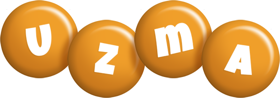 Uzma candy-orange logo
