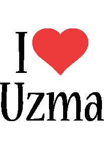Uzma i-love logo