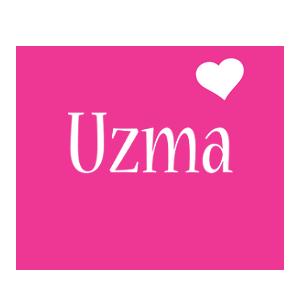 Uzma love-heart logo