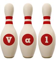Val bowling-pin logo