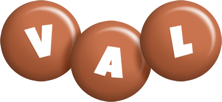 Val candy-brown logo