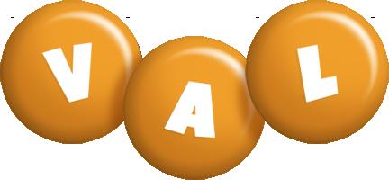 Val candy-orange logo