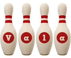 Vala bowling-pin logo