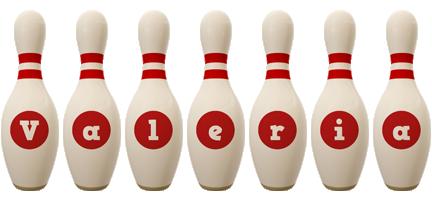 Valeria bowling-pin logo