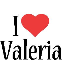 Valeria i-love logo