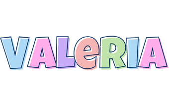 Valeria pastel logo
