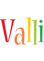 Valli birthday logo