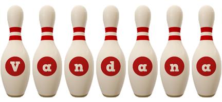 Vandana bowling-pin logo