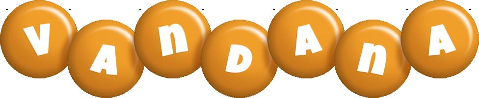 Vandana candy-orange logo
