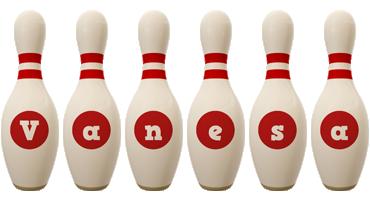 Vanesa bowling-pin logo