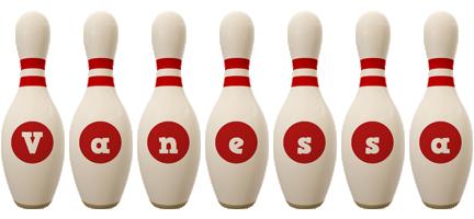 Vanessa bowling-pin logo