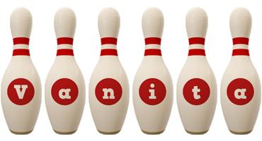 Vanita bowling-pin logo