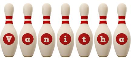 Vanitha bowling-pin logo