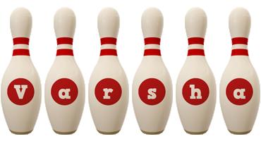 Varsha bowling-pin logo
