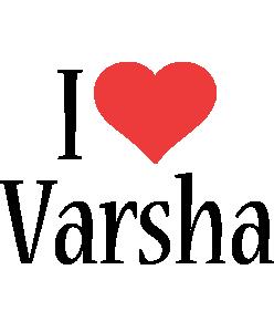 Varsha i-love logo