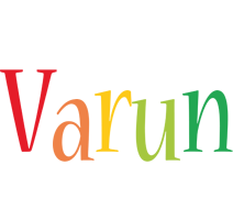 Varun birthday logo