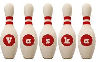 Vaska bowling-pin logo
