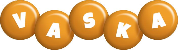 Vaska candy-orange logo