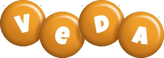 Veda candy-orange logo