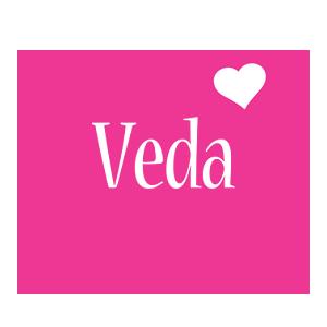 Veda love-heart logo