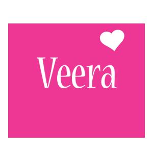 Veera love-heart logo