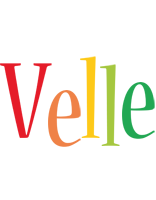 Velle birthday logo