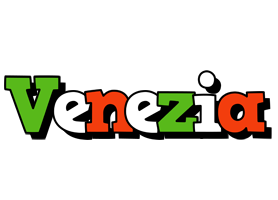 VENEZIA logo effect. Colorful text effects in various flavors. Customize your own text here: https://www.textGiraffe.com/logos/venezia/