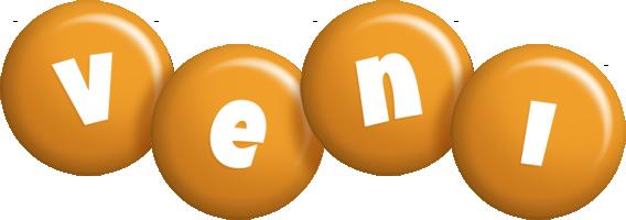 Veni candy-orange logo