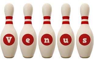 Venus bowling-pin logo