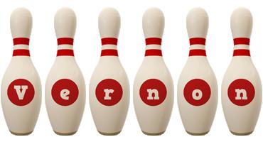 Vernon bowling-pin logo