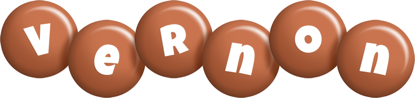 Vernon candy-brown logo
