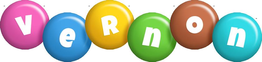 Vernon candy logo