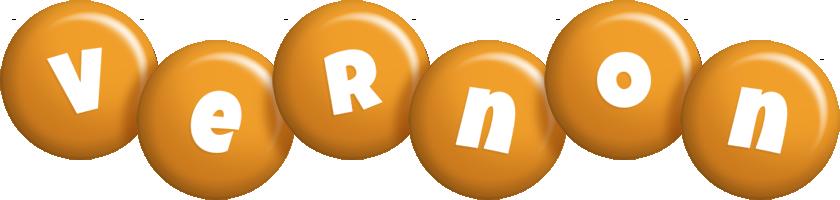 Vernon candy-orange logo