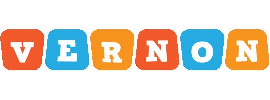 Vernon comics logo