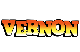 Vernon sunset logo