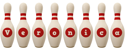 Veronica bowling-pin logo