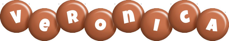 Veronica candy-brown logo