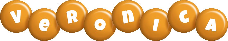 Veronica candy-orange logo