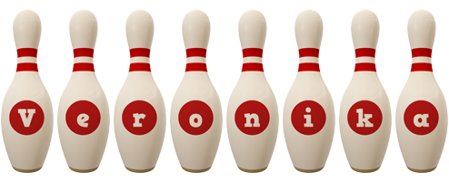 Veronika bowling-pin logo