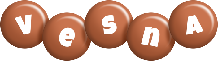 Vesna candy-brown logo